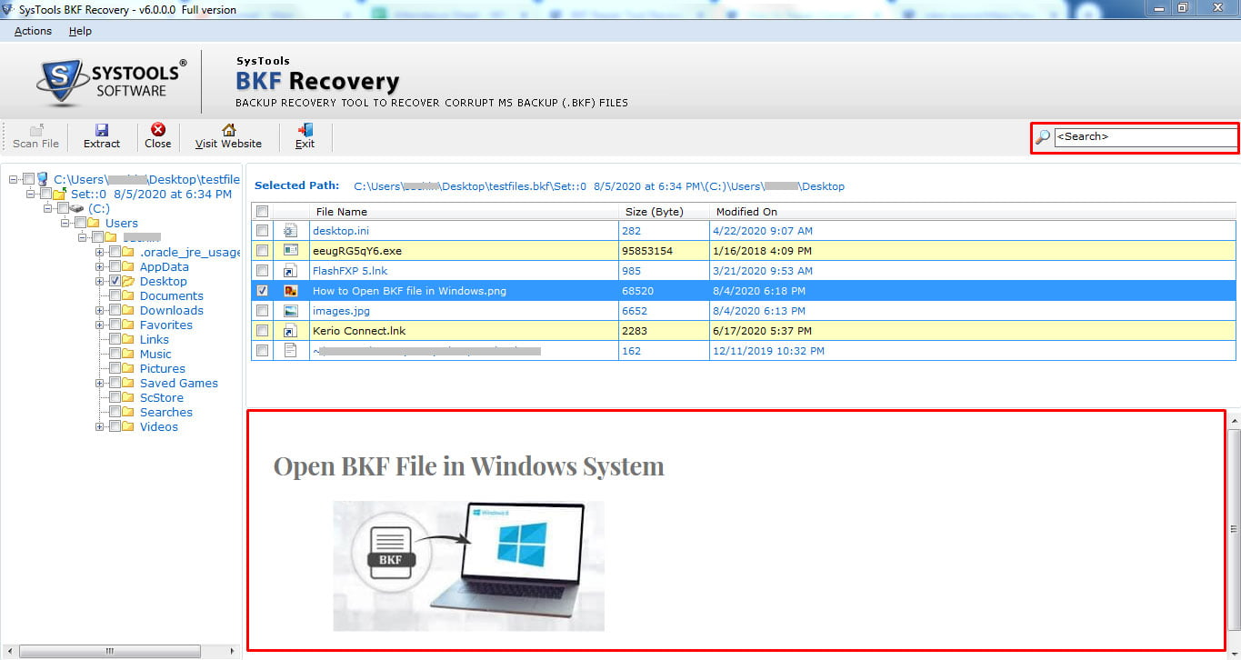 SysTools BFK Recovery Screen 4