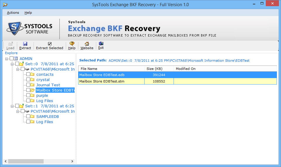 Exchange BKF Recovery 2