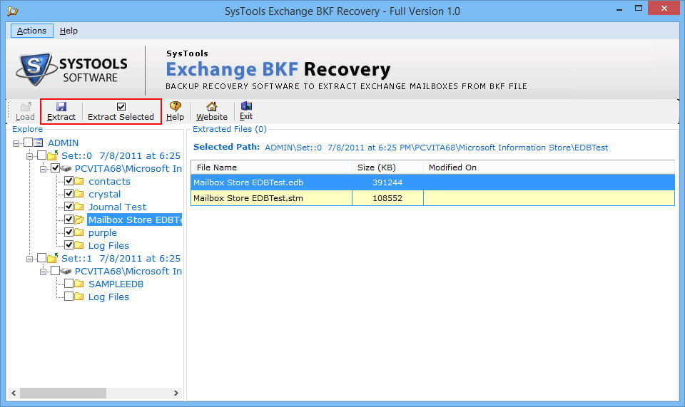 Exchange BKF Recovery 3