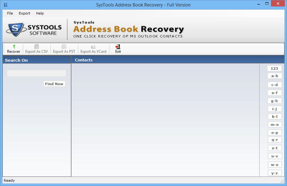 Systools Address Book Recovery 1