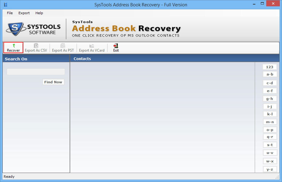 Systools Address Book Recovery 2