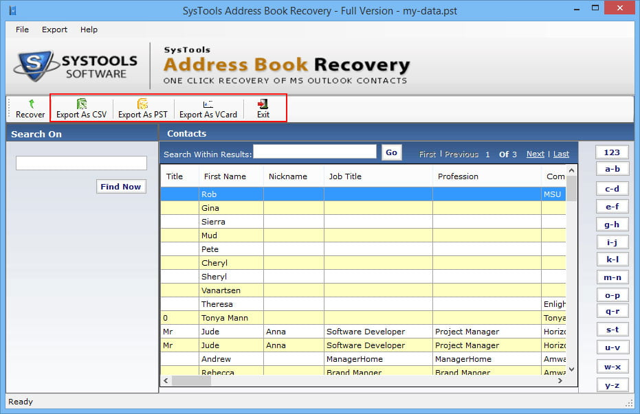 Systools Address Book Recovery 4