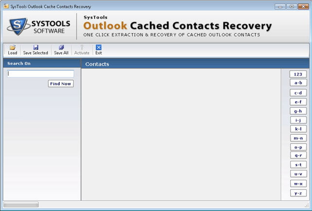 Systools outlook cached contacts recovery 1