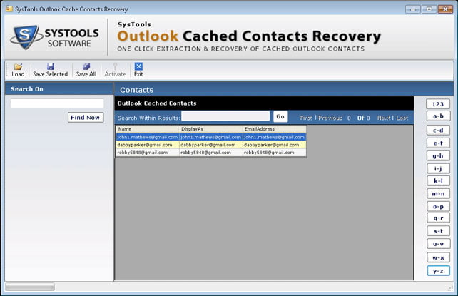 Systools outlook cached contacts recovery 3