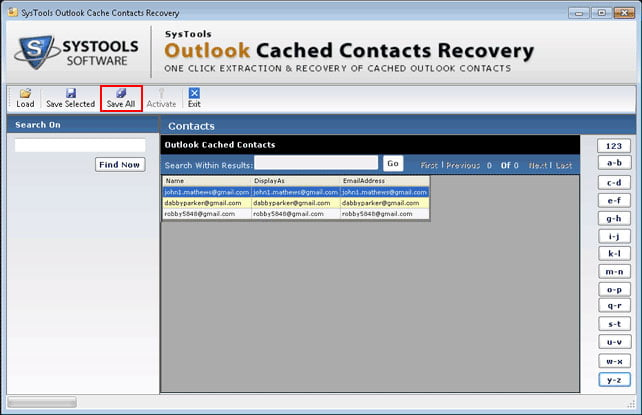 Systools outlook cached contacts recovery 4