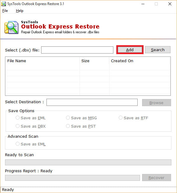 systools outlook express restore 2