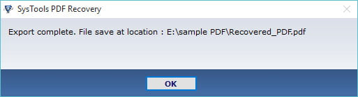 systools pdf recovery 4